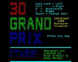 3D Grand Prix BBC Micro Another title screen