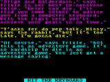 Bugsy ZX Spectrum After the title screen comes a series of overlapping story screens, this is the third