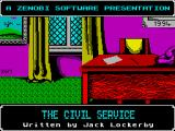 The Civil Service ZX Spectrum The title screen
