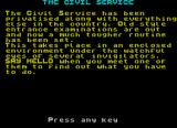 The Civil Service ZX Spectrum The background to the game