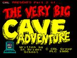 The Very Big Cave Adventure ZX Spectrum Title screen: CRL release - part two