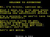 The Very Big Cave Adventure ZX Spectrum This screen follows the title screen and comes before the first game screen
