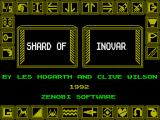 Shard of Inovar ZX Spectrum Title screen: Zenobi Software disc release