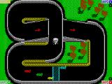Super Sprint ZX Spectrum Track with a ramp