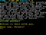 Sherlock Holmes: The Case of the Beheaded Smuggler ZX Spectrum The first game screen
