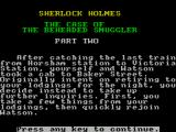 Sherlock Holmes: The Case of the Beheaded Smuggler ZX Spectrum The start of part two