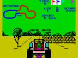 Speed Buggy ZX Spectrum Game over