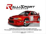 RalliSport Challenge Windows Start a new game or jump right into a race.