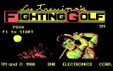 Lee Trevino's Fighting Golf DOS Title Screen (CGA)