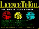 007: Licence to Kill ZX Spectrum Title screen