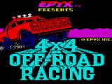 4x4 Off-Road Racing ZX Spectrum Title screen