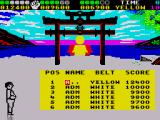 Chop N' Drop ZX Spectrum You need a very high score to reach the elusive black belt