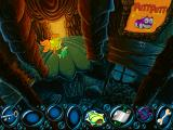 Freddi Fish and the Case of the Missing Kelp Seeds Windows A room in the castle with a Putt-Putt Easter egg.
