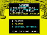 AAARGH! ZX Spectrum Main menu