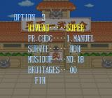 Dragon Ball Z: Super Butōden SNES Option (French).