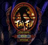 T'ai Fu: Wrath of the Tiger PlayStation Main menu.