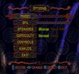 T'ai Fu: Wrath of the Tiger PlayStation Options.