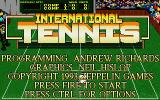 International Tennis DOS Title Screen (VGA)
