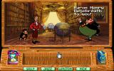 Around the World in 80 Days DOS Baron Henry Hogsbreath - the game's villain makes his entrance.