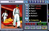 Where in Time Is Carmen Sandiego? DOS Inputting suspect info.