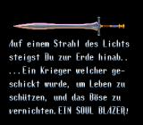Soul Blazer SNES Part of the intro (German).