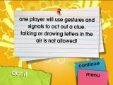 Scene It?: Glee DVD Player Bonus Activities: A description of the Act It game