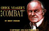 Chuck Yeager's Air Combat DOS Title screen (Tandy)