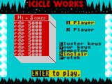 Icicle Works ZX Spectrum Main menu