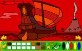 "Putt-Putt and Fatty Bear's Activity Pack DOS The coloring game again: ""bloody pirate ship"". Looks almost cute anyway."