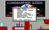 Commander Keen 1: Marooned on Mars DOS Main Menu