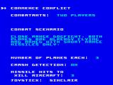 ACE 2 ZX Spectrum Choose battle settings
