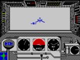 Ace of Aces ZX Spectrum Shooting at enemy bomber while diving into the clouds