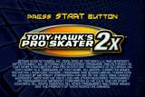 Tony Hawk's Pro Skater 2x Xbox Title screen