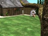 3D Pets: Splat! The Cat Windows This is the  garden. The hose pipe can be used to water the lawn.<br>The cat is quite far away and is thinking that it wants to play with its toy mouse