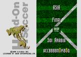 Head-On Soccer Genesis Asian Tournament. Final match... and password.