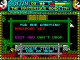 Magicland Dizzy ZX Spectrum You've got a key.