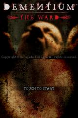 Dementium: The Ward Nintendo DS Title screen