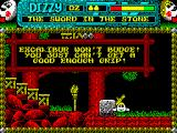 Magicland Dizzy ZX Spectrum The Legendary Excalibur