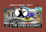 James Bond 007 in The Living Daylights: The Computer Game Commodore 64 Title Screen