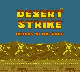 Desert Strike: Return to the Gulf Game Boy Title screen. (Super Game Boy)