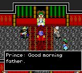 Defenders of Oasis Game Gear Talking to the King, your father