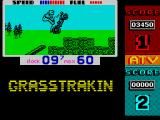 ATV Simulator ZX Spectrum Jumping over some stone wall