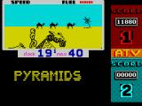ATV Simulator ZX Spectrum Nice view with distant camels