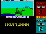ATV Simulator ZX Spectrum Water obstacle just completed