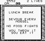 Bart Simpson's Escape from Camp Deadly Game Boy Lunch Break.