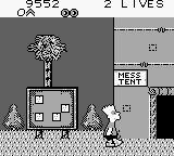 Bart Simpson's Escape from Camp Deadly Game Boy Mess Tent.
