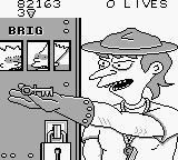 Bart Simpson's Escape from Camp Deadly Game Boy Game over screen.