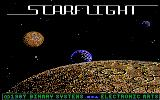 Starflight DOS Title screen (EGA/Tandy)
