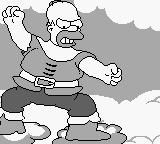 The Simpsons: Bart & the Beanstalk Game Boy ...following right behind him was the very angry and very hungry giant.