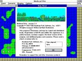 Medieval War Windows 3.x The shareware version of the game starts with a shareware reminder screen